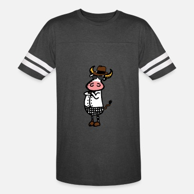 Tippy Tippy Cow - Unisex Vintage Sport T-Shirt