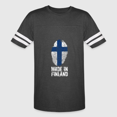 Suomi Flag Made in Finland / Suomi - Vintage Sport T-Shirt