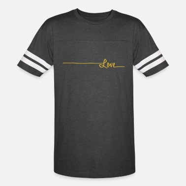 Handwriting handwriting gold love - Unisex Vintage Sport T-Shirt