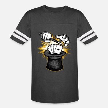 Perform Magic Magician Hat Wand & Magic Cards - Unisex Vintage Sport T-Shirt