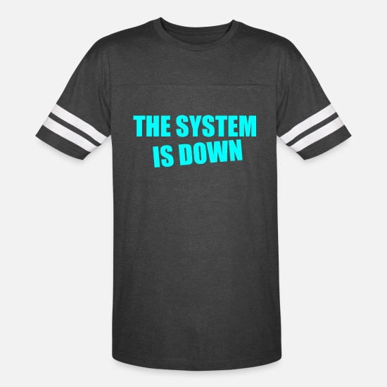 The Doctor T-Shirts - the system is down - Unisex Vintage Sport T-Shirt vintage smoke/white