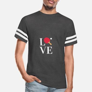Ping Pong Ball LOVE Ping Pong Player Ball ping-pong Sports - Unisex Vintage Sport T-Shirt