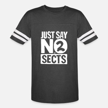 Sect just say NO 2 SECTS (wht) - Unisex Vintage Sport T-Shirt