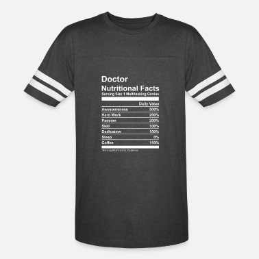 Doctor On Call Doctor Nutritional Facts - Unisex Vintage Sport T-Shirt