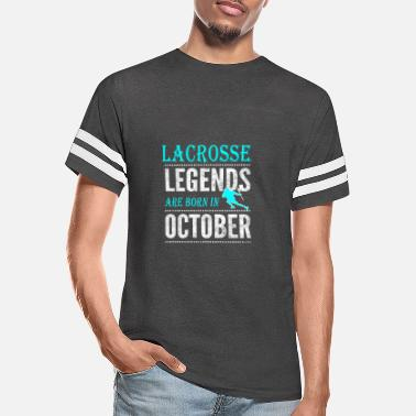 Lacrosse Lacrosse Legends are born in October Boys - Unisex Vintage Sport T-Shirt