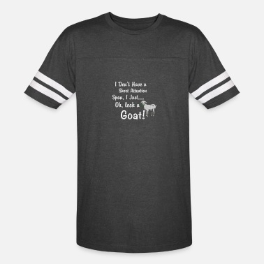 Farming I Don't Have Short Attention Span Just Look Goat - Unisex Vintage Sport T-Shirt