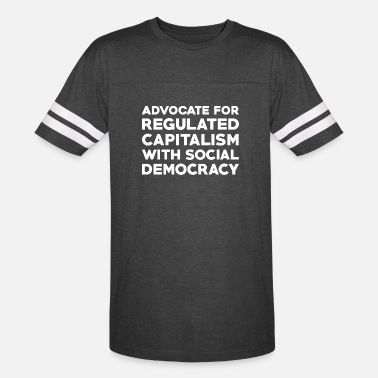 Social Democracy Text: Capitalism with social democracy (white) - Unisex Vintage Sport T-Shirt