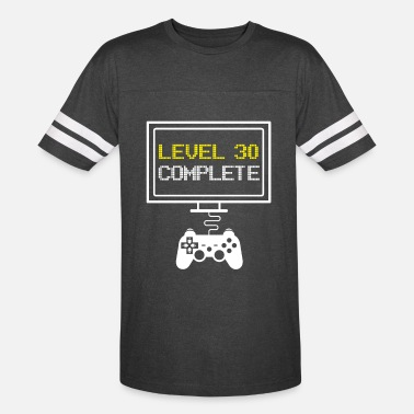 Level LEVEL 30 COMPLETE - funny 30th Bithday Gaming Gift - Unisex Vintage Sport T-Shirt