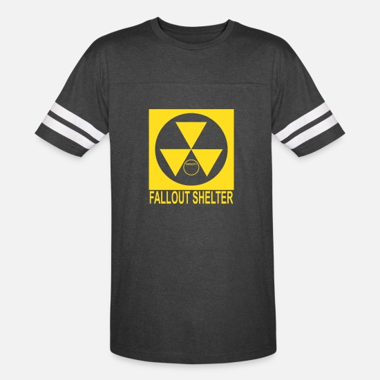 Nuclear T-Shirts - Shelter nuclear - Unisex Vintage Sport T-Shirt vintage smoke/white