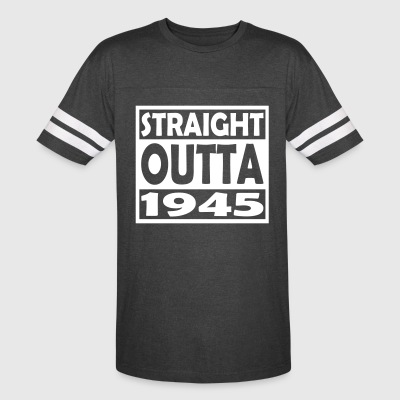 72nd Birthday T Shirt Straight Outta 1945 - Vintage Sport T-Shirt
