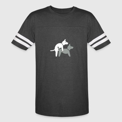 Two Dogs Make It In The Doggy Position - Vintage Sport T-Shirt