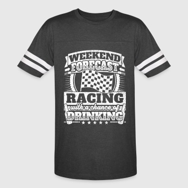 Weekend Forecast Racing Drinking Tee - Vintage Sport T-Shirt