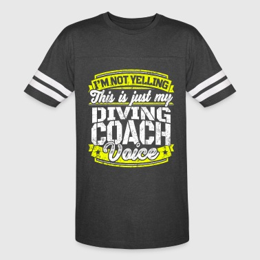 Funny Diving coach: My Diving Coach Voice - Vintage Sport T-Shirt