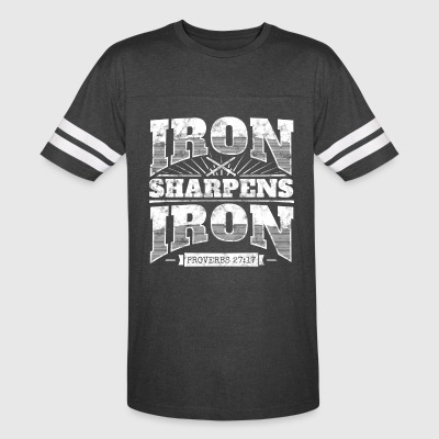 Cool christian shirt: Iron Sharpens Iron - Vintage Sport T-Shirt