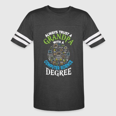 Grandpa With A Computer Science Degree T Shirt - Vintage Sport T-Shirt