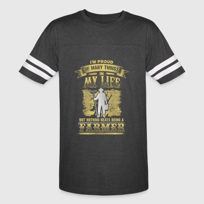 Proud of many things - farmer - Vintage Sport T-Shirt