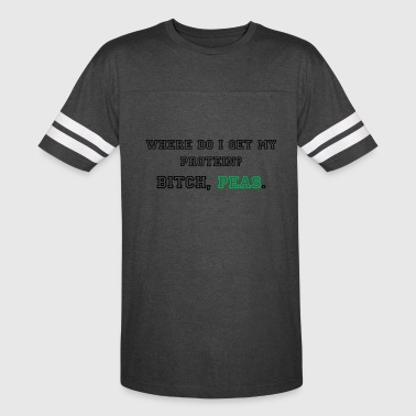 Where do I get my protein? - Vintage Sport T-Shirt