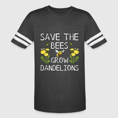 Save The Bees Grow Dandelions - Vintage Sport T-Shirt