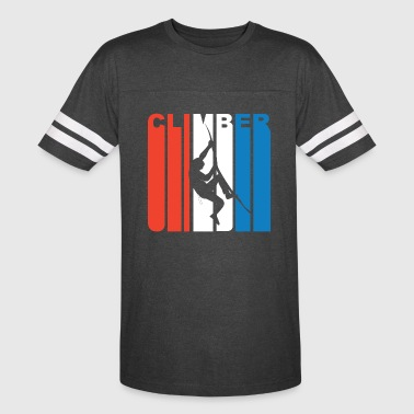 Red White And Blue Climber Rock Climbing - Vintage Sport T-Shirt