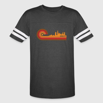 Retro Style Charlotte North Carolina Skyline - Vintage Sport T-Shirt