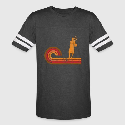 Retro Style Bagpipes Silhouette Music - Vintage Sport T-Shirt