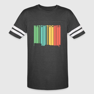 Retro 1970's Style Natchitoches Louisiana Skyline - Vintage Sport T-Shirt