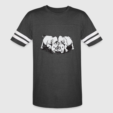 rhino fight - Vintage Sport T-Shirt