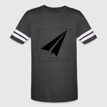 Blank Page Paper Airplane - Vintage Sport T-Shirt