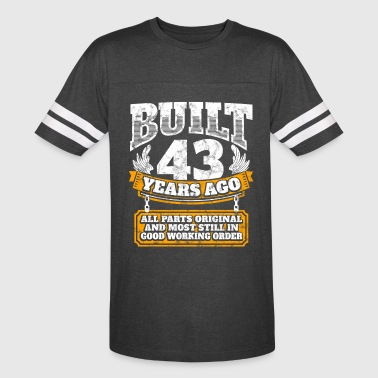 43th birthday gift idea: Built 43 years ago Shirt - Vintage Sport T-Shirt