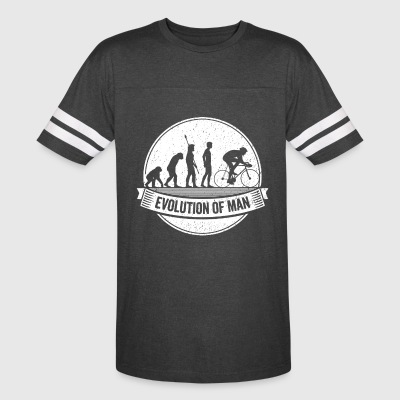 Funny Biker Graphic Cyclist Evolution Bicycle Tee - Vintage Sport T-Shirt