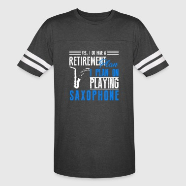 Retirement Plan On Playing Saxophone Shirt - Vintage Sport T-Shirt