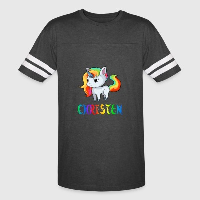 Christen Unicorn - Vintage Sport T-Shirt