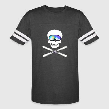 Skull with ski googles (Ski Edition) - Vintage Sport T-Shirt