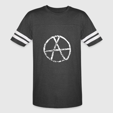 Eroded Anarchy Sign - Vintage Sport T-Shirt