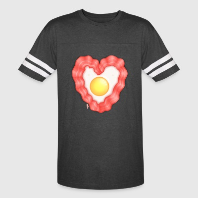 Bacon and Egg Heart - Vintage Sport T-Shirt