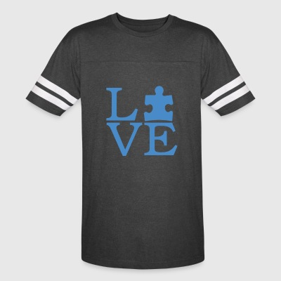 Autism Awareness T-Shirt - I Love Person With Auti - Vintage Sport T-Shirt