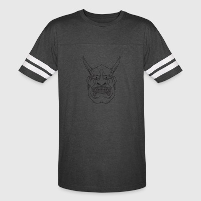 red_demon_with_horns_black - Vintage Sport T-Shirt