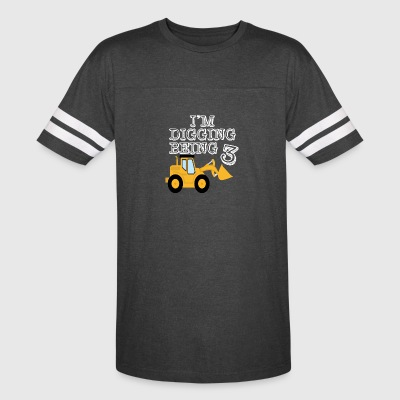 3rd Birthday Bulldozer Construction - Vintage Sport T-Shirt