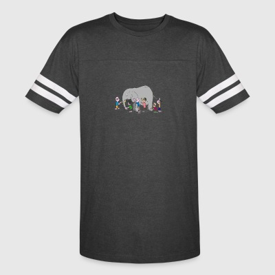 Blind Men and an Elephant Famous Story Tale Design - Vintage Sport T-Shirt