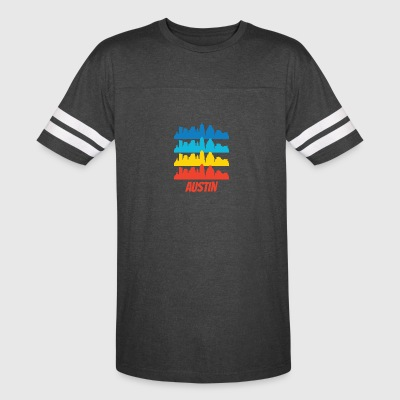 Retro Austin TX Skyline Pop Art - Vintage Sport T-Shirt
