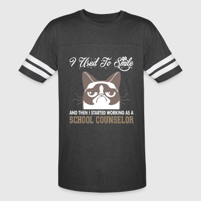 I Used Smile Then Started Working School Counselor - Vintage Sport T-Shirt