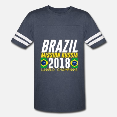 Selecao BRAZIL BRASIL WORLD CUP 2018 FAN SHIRT COOL LOOK - Vintage Sport T-Shirt