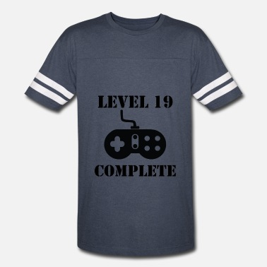 19th Birthday Level 19 Complete 19th Birthday - Vintage Sport T-Shirt