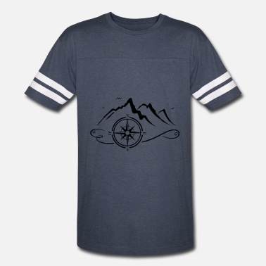 Nautical Compass Mountains with compass - Vintage Sport T-Shirt