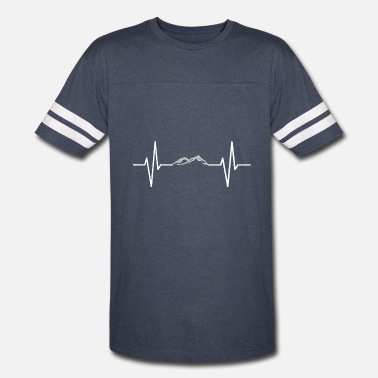 Mountain Beat My heart beats for mountains! gift - Vintage Sport T-Shirt