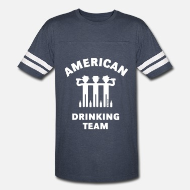 Booze Team American Drinking Team (Booze / Beer / Alcohol) - Vintage Sport T-Shirt