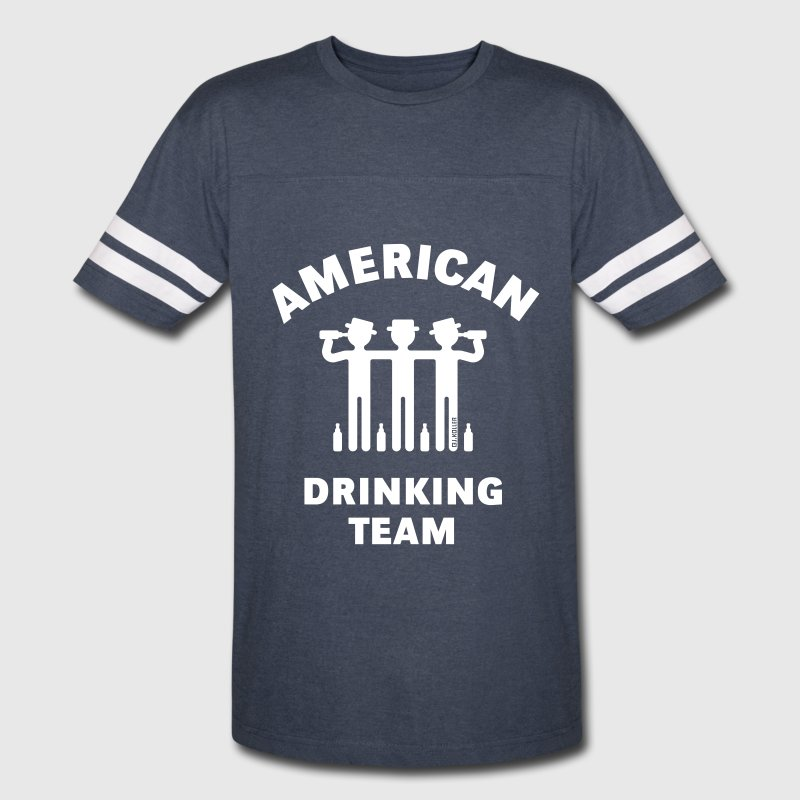 American Drinking Team (Booze / Beer / Alcohol) - Vintage Sport T-Shirt
