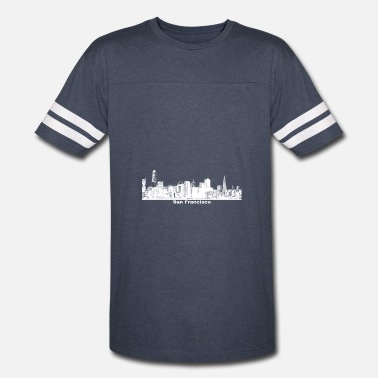 California St San Francisco Skyline California - Vintage Sport T-Shirt