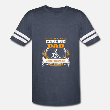 Curling Gift Ideas Curling Dad Shirt Gift Idea - Vintage Sport T-Shirt