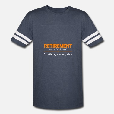 Cribbage Retired T-Shirt. Awesome Costume For Grandma/Grand - Vintage Sport T-Shirt